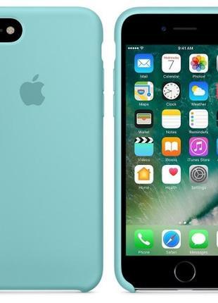 Чехол apple silicone case для iphone 8/7 sea blue бирюзовый3
