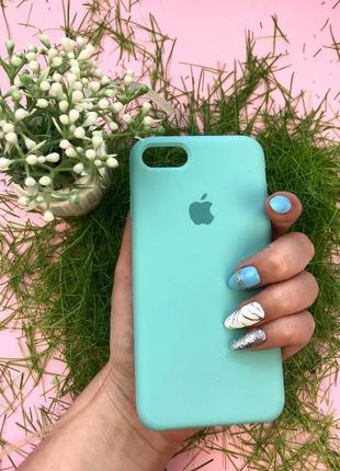 Чехол apple silicone case для iphone 8/7 sea blue бирюзовый