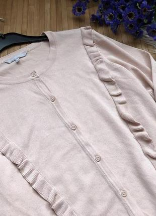 Натуральный брендовый джемпер с рюшами на пуговицах2