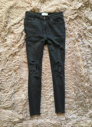 Крутые дырявые джинсы, new look, skinny 10 (38)