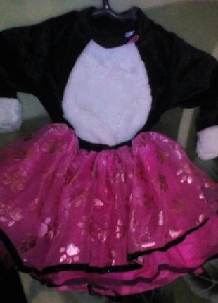 Карнавальный новогодний костюм платье кошечки tu на 9-12м-в