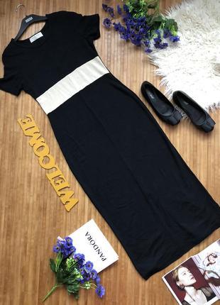 Стильное длинное с плотного трикотажа платье1