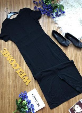 Стильное длинное с плотного трикотажа платье3