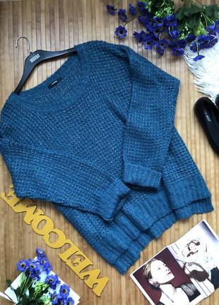 Стильный вязаный свитер с люрексом 20-221