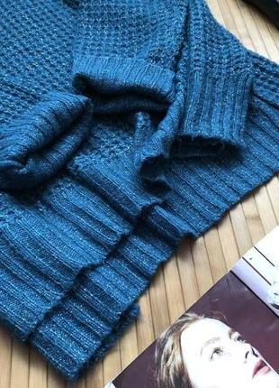 Стильный вязаный свитер с люрексом 20-223