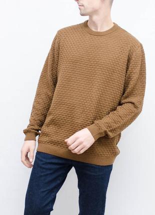 Теплый красивый хлопковый свитер