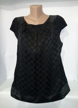 Красивая блуза в горохи большой размер f&f uk 18 / 46 / xxl1