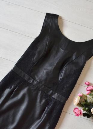 Дуже красиве плаття з кожзаму і плотного трикотажу з кружевом only.2