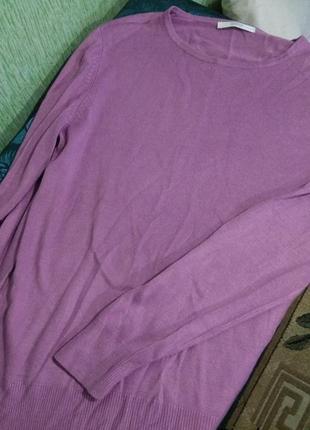Сиреневый реглан свитер оверсайз