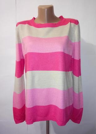 Яркий джемпер пуловер полоску marks&spencer uk 12 / 40 / m1