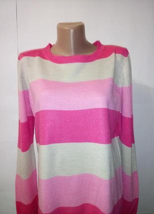 Яркий джемпер пуловер полоску marks&spencer uk 12 / 40 / m2