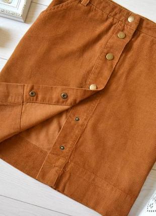 Трендова вельветова юбочка на закльопках.2