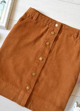 Трендова вельветова юбочка на закльопках.3