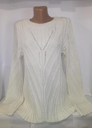Белый привлекательный новый свитер крупной вязки next uk 14 / 42 / l1