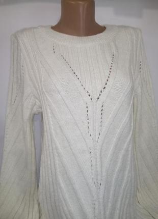 Белый привлекательный новый свитер крупной вязки next uk 14 / 42 / l2