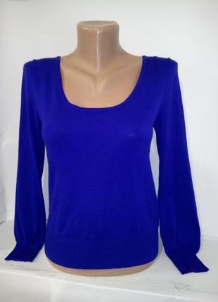 Вискозный синий джемпер пуловер atmoshere uk 10 / 38 / s1