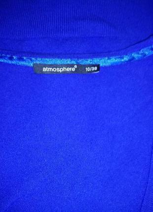 Вискозный синий джемпер пуловер atmoshere uk 10 / 38 / s4