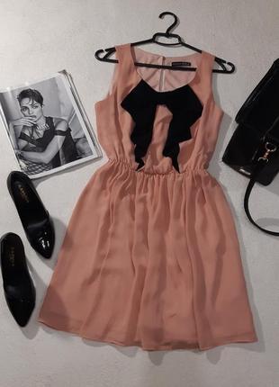 Нежное шифоновое платье. размер м1