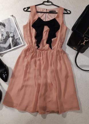 Нежное шифоновое платье. размер м2