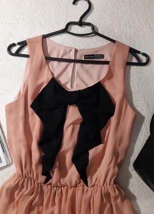Нежное шифоновое платье. размер м3
