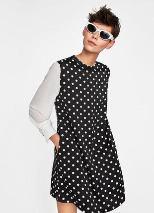 Платье в горох от zara2