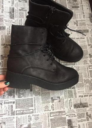 Крутые ботинки 38,40 р esmara