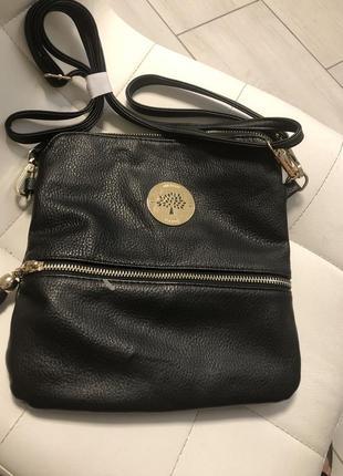 Стильная сумочка с  длинной и короткой ручкой mulberry