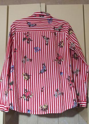 Коттоновая рубашка в полоску primark2