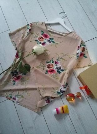 Женственная блуза в розы...#004271