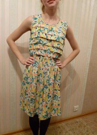1+1=3 милое шифоновое платье5