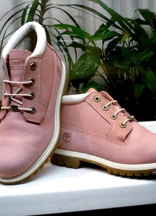 "Кожаные яркие ботинки "" timberland "" сша! 38 р."