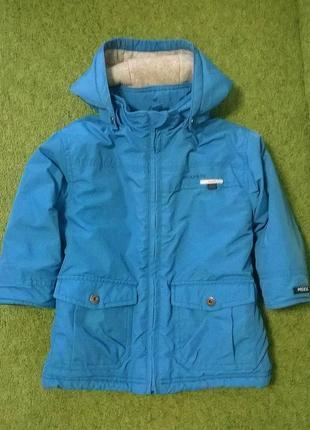 Теплая зимняя термо куртка для мальчика mexx, 1,5-2,5 года, 86-92-98см