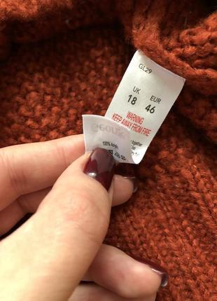 Шикарный новый свитер воротник лодочка стильной вязки4