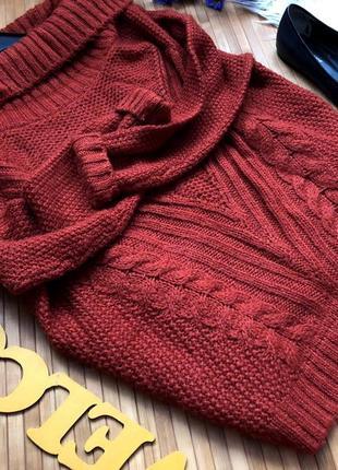 Шикарный новый свитер воротник лодочка стильной вязки3