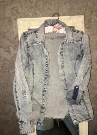 Джинсовая рубашка4