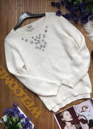 Красивый свитер в составе есть шерсть с камнями1