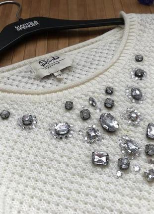 Красивый свитер в составе есть шерсть с камнями4