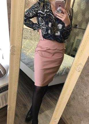 Блузка в цветы1