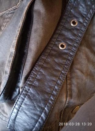 Брендовая куртка,с пропиткой,под кожу,супербатал 56-58р3