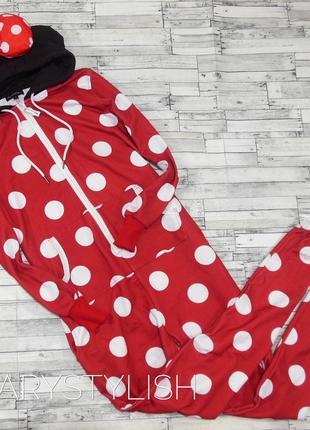 Классный костюм для дома, мини маус, объемный капюшон с бантиком1