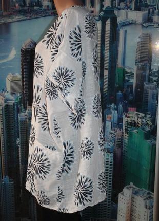 Блуза 50 лен 50 котон  54-60 размер3