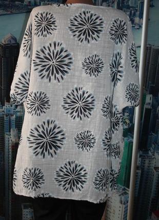 Блуза 50 лен 50 котон  54-60 размер2