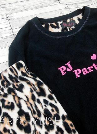 Флисовая мягонькая пижама в актуальный леопардовый принт, моя любовь ❤3