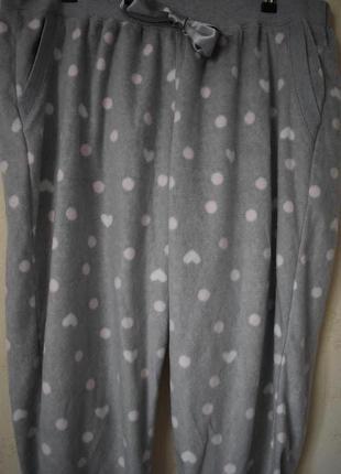 Домашние теплые брюки с принтом большого размера3