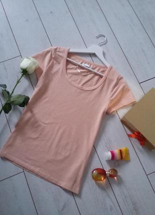 Старт огромных скидок!  милая абрикосово-пудровая футболка..#000202
