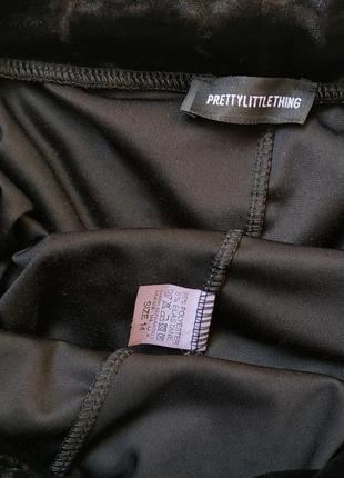 Актуальные укороченные велюровые брюки (кюлоты) prettylittlething2