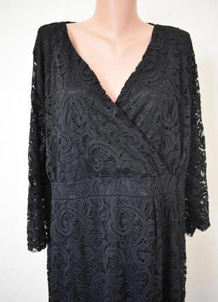 Красивое нарядное кружевное платье очень большого размера2