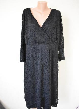 Красивое нарядное кружевное платье очень большого размера1