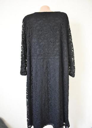Красивое нарядное кружевное платье очень большого размера3