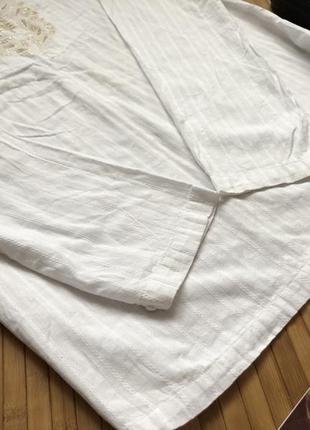 Красивая коттоновая рубашка с вышивкой3